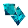 Acrylic 26x20mm Diamond Facet Turquoise